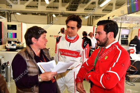 Kate Beavan (GBR) FOM and Esteban Gutierrez (MEX) F1 Experiences 2-Seater Driver at Formula One World Championship, Rd18, Mexican Grand Prix, Preparations, Circuit Hermanos Rodriguez, Mexico City, Mexico, Thursday 26 October 2017.