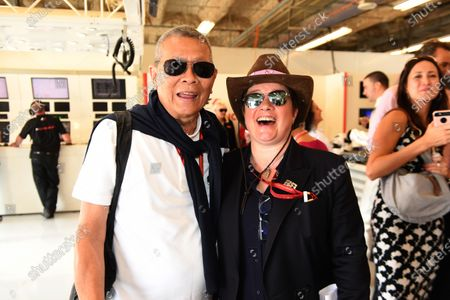 Colin Syn (SIN) Deputy Chairman Singapore GP PTE Ltd and Kate Beavan (GBR) FOM at Formula One World Championship, Rd17, United States Grand Prix, Qualifying, Circuit of the Americas, Austin, Texas, USA, Saturday 21 October 2017.