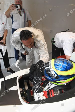 F1 Experiences 2-Seater passenger Michael Caines (GBR) Chef and Zsolt Baumgartner (HUN) F1 Experiences 2-Seater driver at Formula One World Championship, Rd13, Italian Grand Prix, Practice, Monza, Italy, Friday 1 September 2017.