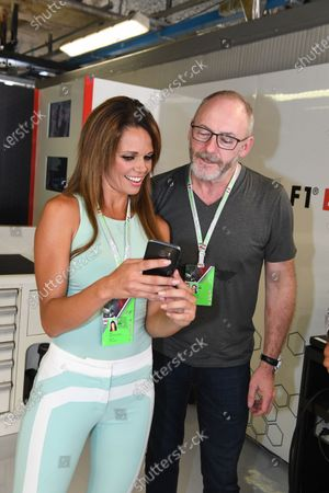 Liam Cunningham (IRL) Actor and Alejandra Gutierrez (VEN) in the F1 Experiences 2-Seater garage at Formula One World Championship, Rd13, Italian Grand Prix, Practice, Monza, Italy, Friday 1 September 2017.