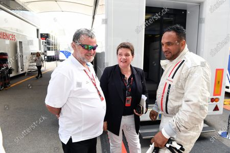 Stock Image of Paul Stoddart (AUS), Kate Beavan (GBR) FOM and F1 Experiences 2-Seater passenger Michael Caines (GBR) Chef at Formula One World Championship, Rd13, Italian Grand Prix, Practice, Monza, Italy, Friday 1 September 2017.