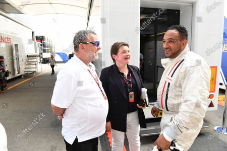 Stock Picture of Paul Stoddart (AUS), Kate Beavan (GBR) FOM and F1 Experiences 2-Seater passenger Michael Caines (GBR) Chef at Formula One World Championship, Rd13, Italian Grand Prix, Practice, Monza, Italy, Friday 1 September 2017.
