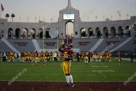 Editorial image of Oregon USC Football, Los Angeles, United States - 18 Dec 2020