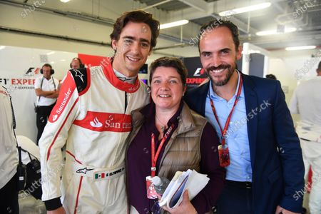 Esteban Gutierrez (MEX) F1 Experiences 2-Seater Driver and Kate Beavan (GBR) FOM at Formula One World Championship, Rd18, Mexican Grand Prix, Preparations, Circuit Hermanos Rodriguez, Mexico City, Mexico, Thursday 26 October 2017.