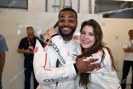 F1 Experiences 2-Seater passengers Amanda Cerny (USA) and King Bach (USA) at Formula One World Championship, Rd17, United States Grand Prix, Race, Circuit of the Americas, Austin, Texas, USA, Sunday 22 October 2017.