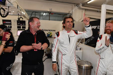 Paul Stoddart (AUS) and Pedro De La Rosa (ESP) F1 Experiences 2-Seater Driver at Formula One World Championship, Rd5, Spanish Grand Prix, Qualifying, Barcelona, Spain, Saturday 12 May 2018.