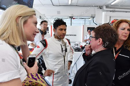 F1 Experiences 2-Seater passenger with Kate Beavan (GBR) FOM  at Formula One World Championship, Rd5, Spanish Grand Prix, Qualifying, Barcelona, Spain, Saturday 12 May 2018.