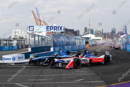 Nick Heidfeld (GER), Mahindra Racing, Mahindra M4Electro, battles with Nicolas Prost (FRA), Renault e.Dams, Renault Z.E 17.