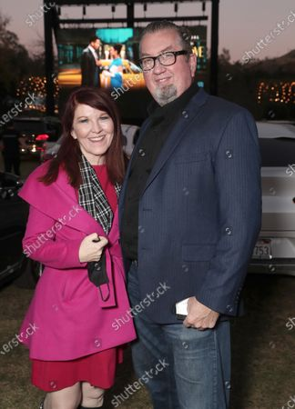 "Stock Image of Kate Flannery and Chris Haston attend Amazon Studios ""Sylvie's Love"" Drive In on Sunday, December 20 at the Calamigos Ranch."