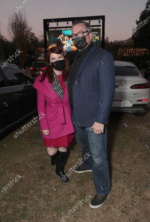 "Kate Flannery and Chris Haston attend Amazon Studios ""Sylvie's Love"" Drive In on Sunday, December 20 at the Calamigos Ranch."
