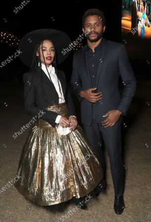 Stock Image of Tessa Thompson and Nnamdi Asomugha