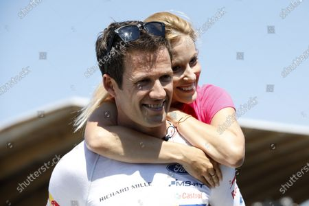 Sébastien Ogier with his wife Andrea Kaiser.