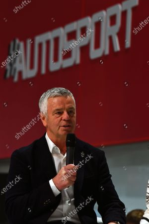 Derek Warwick (GBR) on the main stage at Autosport International, Day One, NEC, Birmingham, England, Thursday 11 January 2018.