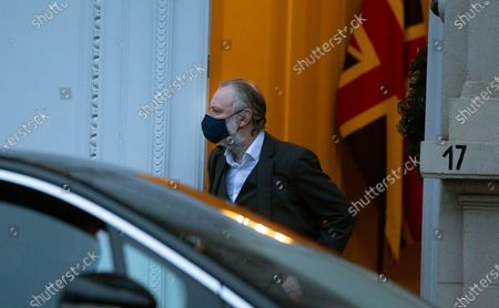 """British Ambassador to the EU Tim Barrow leaves the UK ambassadors residence in Brussels, . The United Kingdom and the European Union were continuing on Monday a """"last attempt"""" to clinch a post-Brexit trade deal, with EU fishing rights in British waters the most notable remaining obstacle to avoid a chaotic and costly changeover on New Year"""