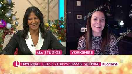Editorial picture of 'Lorraine' TV Show, London, UK - 21 Dec 2020