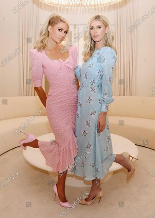 Exclusive - Paris Hilton and Nicky Hilton Rothschild wearing Alessandra Rich