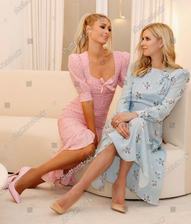 Stock Photo of Exclusive - Paris Hilton and Nicky Hilton Rothschild wearing Alessandra Rich