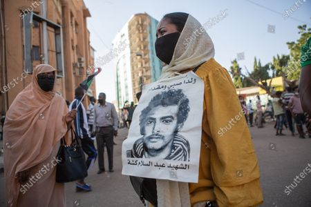 Stock Photo of Two years after the revolution, Sudan sinks into crisis.  On December 19, 2018, hundreds of Sudanese rose up in several cities across the country to protest the government's decision to triple the price of bread. The movement will lead, four months later, to the dismissal of President Omar al-Bashir. Incarcerated in Khartoum since then, the ousted president could soon be handed over to the International Criminal Court (ICC) in The Hague, where he must face charges of genocide and war crimes.