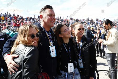 The Brown family, sister Paige, father Bobby, Actress Millie Bobby Brown and mother Kelly Brown on the grid