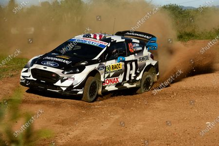 Ken Block, Hoonigan Racing Division, Ford Fiesta RS WRC 2018, on full attack mode on the gravel.