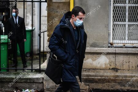 Gregoire Margotton during the Funeral Ceremony on December 21, 2020 in Paris, France.