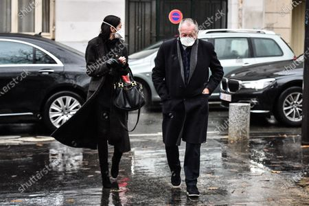 Jean-Michel Aulas during the Funeral Ceremony on December 21, 2020 in Paris, France.