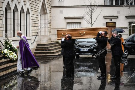 Editorial picture of Funeral of Gerard Houllier, Paris, France - 21 Dec 2020
