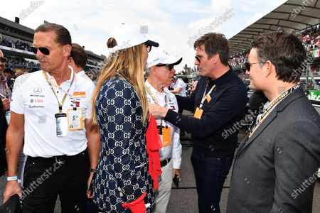 Daniel Grieder, Tommy Hilfiger CEO, Jeff Gordon and Tommy Hilfiger on the grid