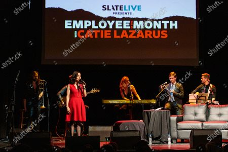 Catie Lazarus hosts 'Employee of the Month' 9th anniversary show at Gramercy Theater on March 15, 2018.