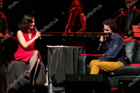 Stock Image of Catie Lazarus and Alex Lacamoire - Catie Lazarus hosts 'Employee of the Month' 9th anniversary show at Gramercy Theater on March 15, 2018.