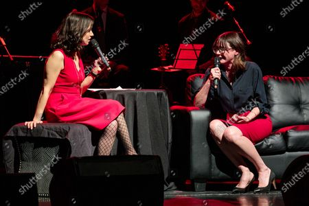Catie Lazarus and Emily Mortimer - Catie Lazarus hosts 'Employee of the Month' 9th anniversary show at Gramercy Theater on March 15, 2018.