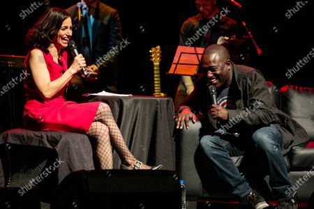 Stock Photo of Catie Lazarus and Hannibal Buress - Catie Lazarus hosts 'Employee of the Month' 9th anniversary show at Gramercy Theater on March 15, 2018.