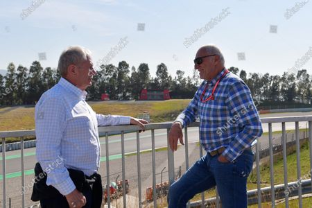 Dr Helmut Marko, Red Bull Motorsport Consultant and Dietrich Mateschitz, CEO and Founder of Red Bull