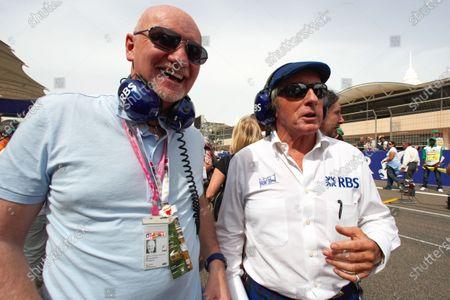 Sir Jackie Stewart on the grid with Williams VIP guest Sir Tom Hunter.