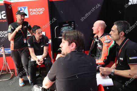 Max Biaggi, Bradley Smith, Aprilia Racing Team Gresini.