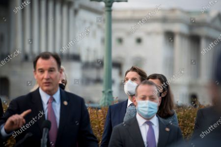 Editorial picture of Members of the Problem Solvers Caucus hold a press conference regarding the stimulus bill outside of the US Capitol., Washington, District of Columbia, USA - 21 Dec 2020