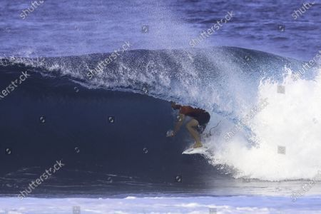 Stock Picture of John John Florence - Surfing : WSL Pipe Masters at Pipeline in Haleiwa, Hawaii, U.S.A.