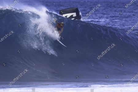 Stock Image of John John Florence - Surfing : WSL Pipe Masters at Pipeline in Haleiwa, Hawaii, U.S.A.