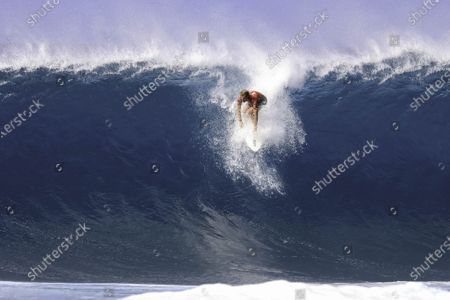 John John Florence - Surfing : WSL Pipe Masters Semifinals at Pipeline in Haleiwa, Hawaii, U.S.A.