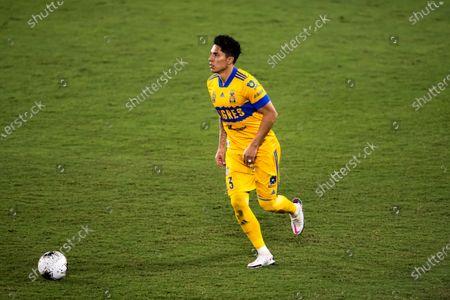 Carlos Salcedo of Tigres UANL (MEX) in action against CD Olimpia (HON)