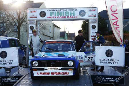 Stock Photo of Mikko Hirvonen / Jarno Ottman Ford Escort Mk2