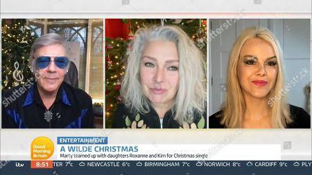 Marty Wilde, Kim Wilde and Roxanne Wilde