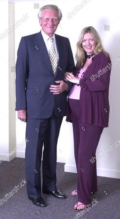 Michael Heseltine and a pregnant Annabel Heseltine