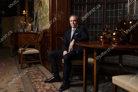 Stock Image of Ken Howery, U.S. Ambassador to the Kingdom of Sweden, photographed at the residence in Stockholm
