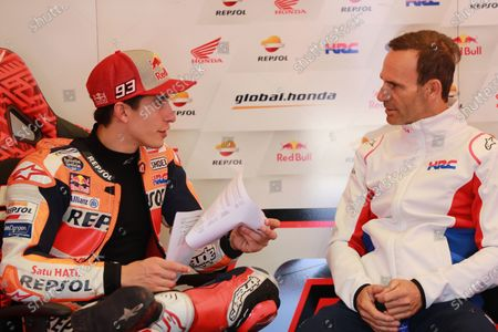 Marc Marquez, Repsol Honda Team, Alberto Puig, Repsol Honda Team Team Principal.