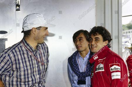 Jean Alesi with Italian footballer Daniele Massaro.