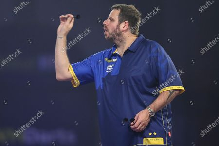 Adrian Lewis during the William Hill World Darts Championship at Alexandra Palace, London