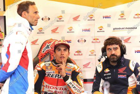 Alberto Puig, Repsol Honda Team Team Principal, Marc Marquez, Repsol Honda Team.
