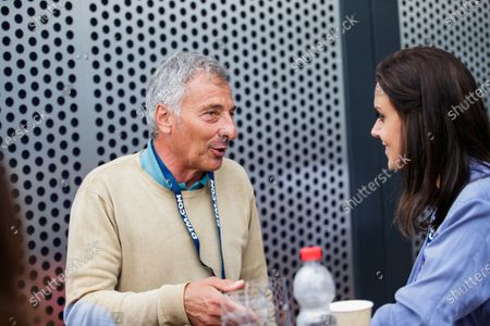 ex-F1 driver Riccardo Patrese with Lee Mckenzie