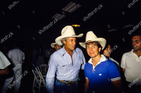 Martin Brundle and Dallas actor Steve Kanaly